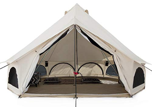 WHITEDUCK Avalon Canvas Bell Tent - Luxury All Season Tent for Camping...