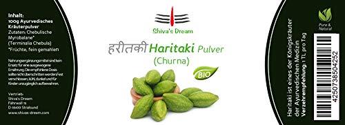 Haritaki Pulver fein vermahlen | 100g | BIO | geprüfte Qualität aus Indien | Shiva's Dream | alle 3 Doshas im Gleichgewicht