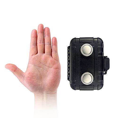 kaguster Waterproof Magnetic Stash Box (Mini 1, Black)