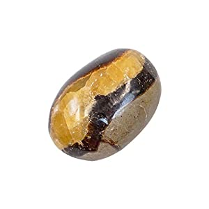 Touchstone Beads Palm Stones Crystal Healing Gemstone Worry Therapy Smooth Soap Shape (Septarian Nodules)
