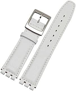 20mm Montre Bracelet pour Swatch Remplacement 17mm Noir Résine
