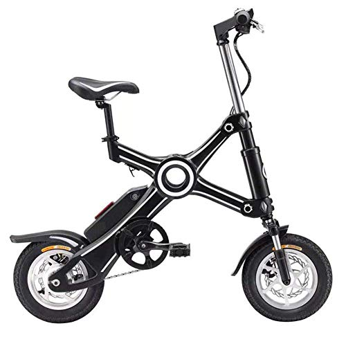 YAMMY Folding Electric Bike,Aluminum Alloy Frame Two-Wheel Mini Pedal Electric Car Ultralight Portable Lithium Battery Battery Scooter Adult (Exercise Bikes)