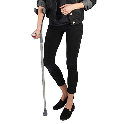 Soles Aluminum Forearm Crutch (SLS806BL) - Black -