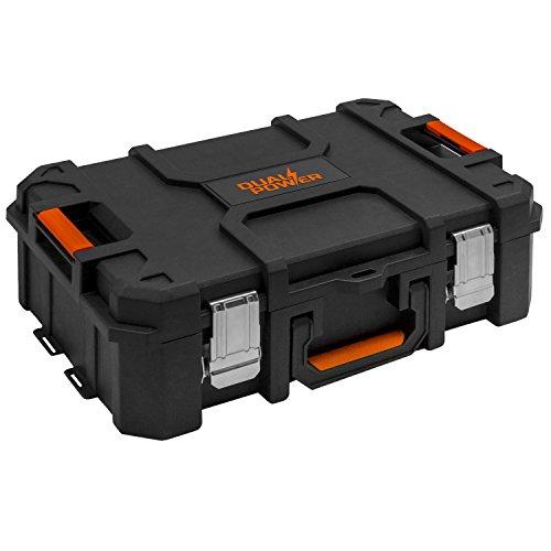Powerplus Dual Power Werkzeugkiste leer Kunststoff 52,8 x 37,1 x 17,9 cm Box Werkzeugbox