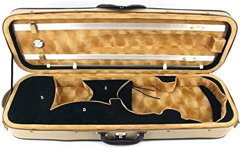 SOAR Violine Violine Hülle PU-Leder Hardcase Violine Violine Violine Hardcase Tasche Hygrometer Griff Leichte Tragbare Taschenverschlüsse Rucksack (Color : Beige, Size : 4/4)