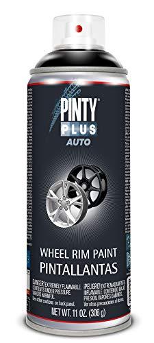 PINTYPLUS AUTO 736 Pintura Spray Pinta Llantas 520cc Negro L104, Estándar