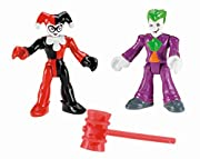 Imagine new adventures with these familiar villains! Which side are you on? Includes Imaginext Joker & Harley Quinn figures and hammer Add to the fun with more Imaginext DC Super Friends! (Each sold separately and subject to availability) Create non-...