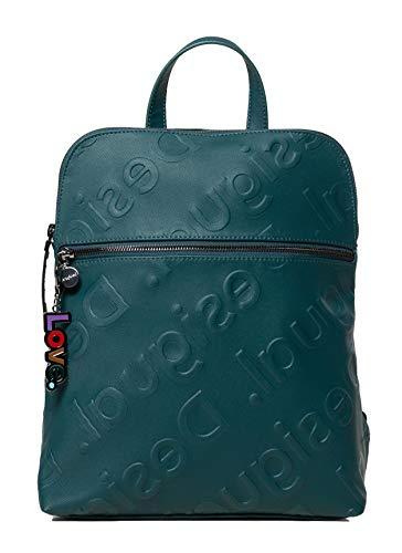 Desigual Mochila con logo en relieve NEWLOGO NANAIMO SKU: 19WAKPX1, color Verde, talla Large