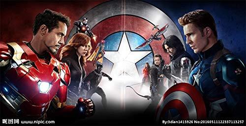 Custom 3D Avengers Photo Wallpaper Hulk Iron Man Captain America Mural Boys Bedroom Any Size Mural