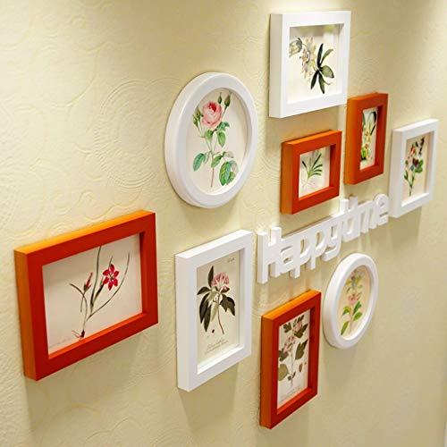 weiwei Massief hout foto muur fotolijst combinatie scheidingswand woonkamer TV achtergrond fotolijst muur (kleur: C)