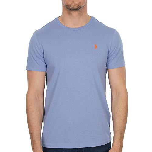 Ralph Lauren T-Shirt Custom Fit 100% Cotone Girocollo Manica Corta Originale - Tg XL