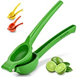 Zulay Premium Quality Metal Lemon Squeezer, Citrus Juicer, Manual Press for Extracting the Most Juice Possible - Lime Green