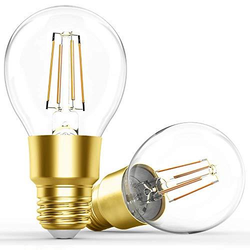 LEDesign スマート電球 Alexa Google Home 対応 エジソン電球 フィラメント バルブ E26 60W相当 2700K 電球色 調光器内蔵 [2個セット]