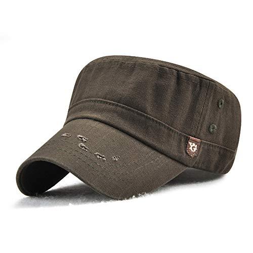 Deportes al Aire Libre Sombreros de Copa Planos para Hombres y Mujeres de Comercio Exterior Europeo y Americano, Gorras Militares Viejas y gastadas, nuevos Sombreros para el Sol