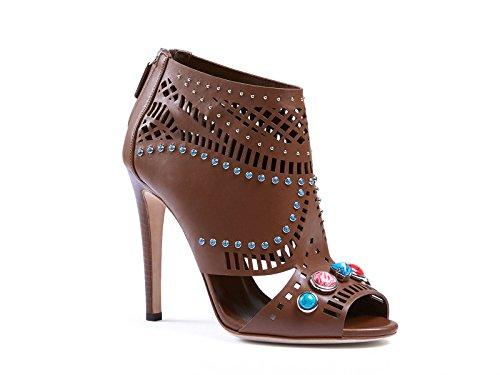 Botín de Cuero Gucci Lika Laser-Corte Tuerca marrón - Número de Modelo: 371057 A3N00 2548 - Tamaño: 40 EU