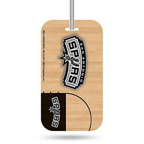 Rico NBA San Antonio Spurs Crystal View Team Luggage Tag, Tan, 7.5-inches by 3-inches by 0.5-inch