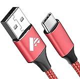 Aione, cavo USB C, cavo di ricarica USB, 1,8 m, in nylon, cavo di tipo C per Samsung Galaxy S10, S9, S8, A40, A50, A70, S20 Plus, A20, Note10 9 8, M30s, M20, A51, LG G7, Sony Xperia, Google Pixel