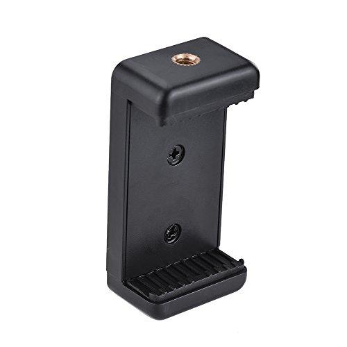 Andoer Verstellbare Handy Halterung Clip Halterung Halter Klemme mit 1102cm Schraube Loch fur Selfie Selbstauslser Einbeinstativ Stativ Kompatibel mit iPhone 76S 65S 5 Samsung Huawei Sony Smartphone