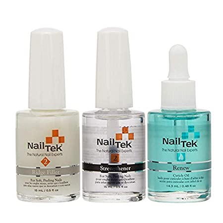 Beauty Shopping Nail Tek Nail Recovery Kit, Cuticle Oil, Strengthener, Ridge Filler – Restore Damaged Nails in 3 Steps