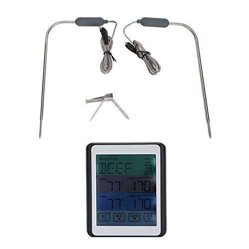 Yivibe Termómetro de Barbacoa, termómetro de Carne de Doble sonda, para el hogar de la Cocina