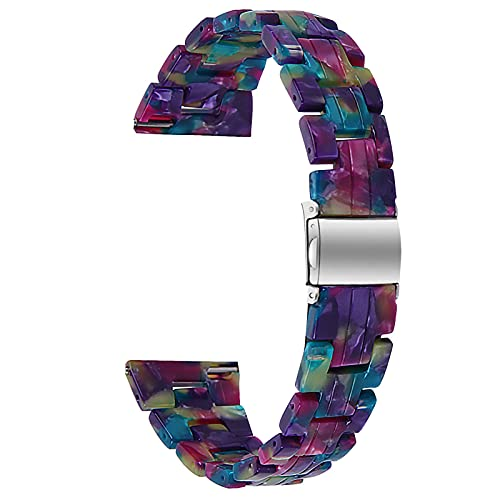 Correa De Reloj Compatible con Galaxy Watch 3, Pulseras De Resina, Bandas De Repuesto Pulsera Impresa Joyería Mujer Hombre Compatible con Galaxy Watch 3 Reloj Inteligente,T,41mm