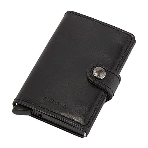 [ セクリッド シークリッド ] Secrid ミニウォレット Mini Wallet 財布 レザー ビンテージブラック Vintage Black 8718215282020 カードケース パスケース 革 メンズ レディース キャッシュレス [並行輸入品]