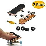 aumotoo mini tastiera, 2 professional pack di skateboard dito maple legno fai da te dell'assemblea skateboard del giocattolo giochi di sport regalo dei capretti (nero)