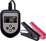 バッテリーチェッカー 日本語取扱説明書付き 12V蓄電池用デジタルバッテリーテスター LCD 自動車バッテリー診断 電圧 抵抗 CCA値測定