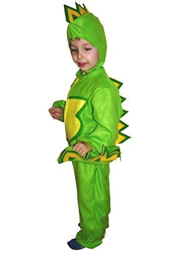 Ikumaal Drache-n Kostüm-e Kind-er F01 122-128, Drachen-Kostüme, Fasching Karneval, Kleinkinder-Karnevalskostüme, Kinder-Faschingskostüme, Geburtstags-Geschenk Weihnachts-Geschenk