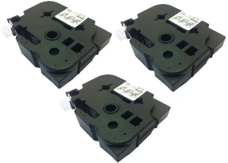 Eseller Direct Kompatible Ersatz-KleBestereifen-Etiketten TZ241, TZ141 PT1800 für Brother P-Touch PT1000, 18° mm breit x 8° m lang, schwarz auf transparent) B00BD7JXRA  | Hohe Qualität