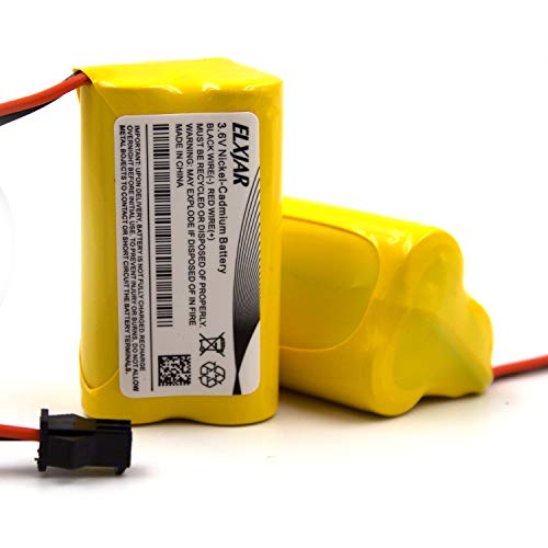 (2-Pack) 3.6V 900mAh AA ELB-B001 NiCad Battery Replacement for Lithonia Unitech 0253799 ANIC1566 ELBB001 AA900MAH Emergency/Exit Light/Fire Exit Sign
