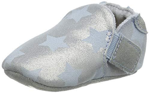 UGG Kids' Roos Star Slip On Shoe, Denim Blue, 0/1