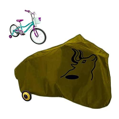 New Funda Bicicleta Exterior - Ligero y Fácil de Almacenar- Impermeable& Anti Polvo - para Interiores y Exteriores Bicicleta para Niños- Azul, Verde, Amarillo (Color : Yellow, Size : L)