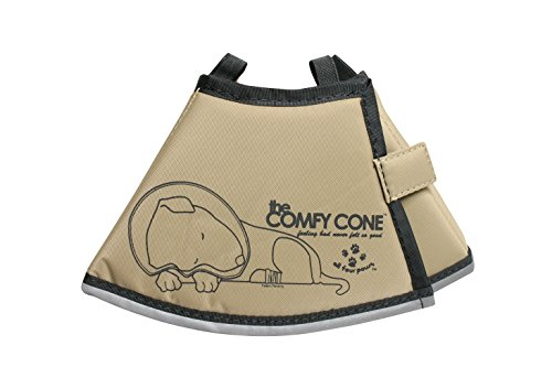 The Comfy Cone Pet Recovery Collar by All Four Paws, Small, Tan,Small 14 cm