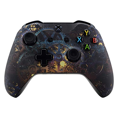 eXtremeRate Gehäuse für Xbox One X/S Controller,Gehäuse Hülle Schale Case Faceplate Zubehör Ersatzteile für Xbox One S/Xbox One X Controller Modell 1708(Gear of Destiny)