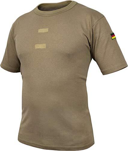 normani Bundeswehr Tropen T-Shirt mit Deutschlandfahnen und Klettstreifen Farbe Khaki/Kurz Größe 7