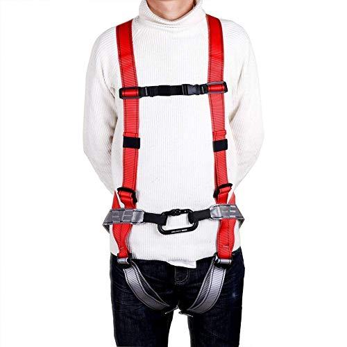 ZWWZ Klettergurt, Industrieabsturzsicherung Sicherheitsgurt, BAU Harness Auffanggurt, for den BAU Mountaineering Feuer Rescuing Klettern Abseilen Baum Cli HAIKE