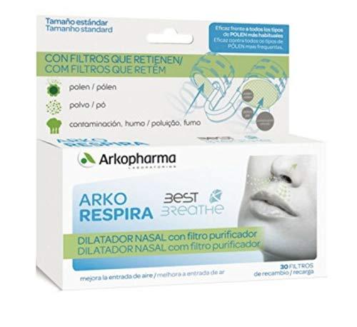Arkopharma arkorespira best breathe nasal dilator + 30 purifying nasal filters Gift For Your Health