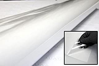 VViViD Clear Self-Adhesive Lamination Vinyl 12 Inches x 15 Feet Roll for Die-Cutters and Vinyl Plotters