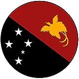 Decoración para tarta con diseño de bandera de Papúa Nueva Guinea – redondo – Círculo de 8 cm – Cumpleaños – Fiesta – Celebración – Evento