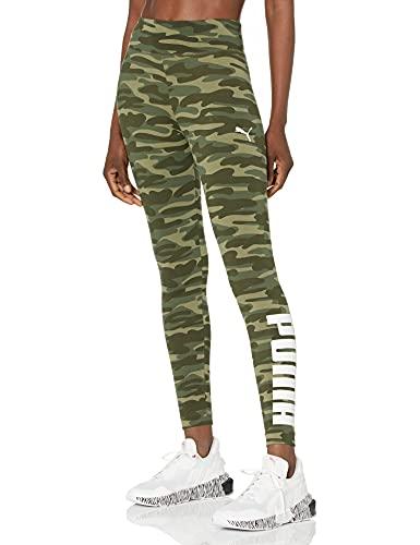 PUMA Essentials+ Camo Legging Leggings, Hoja de UVA, M para Mujer