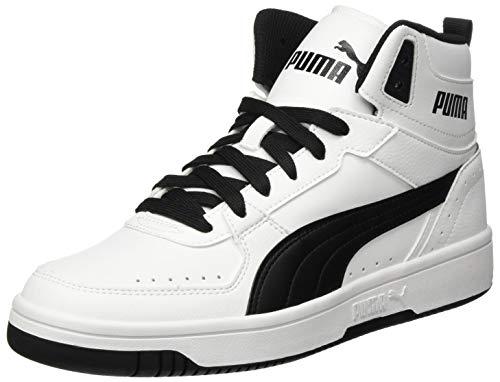 PUMA Unisex Rebound Joy Sneaker, White Black, 43 EU