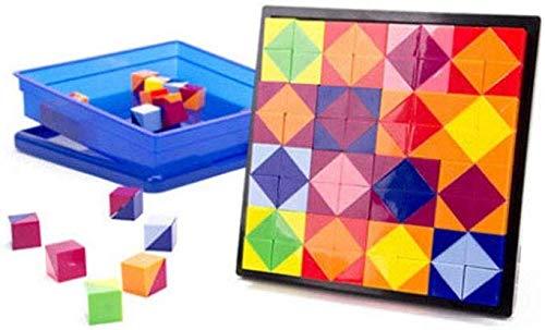 JM Niños de 3 a 12 años Plástico 56 Desarrollo del espacio de pensamiento Bloques de construcción Rompecabezas Desmontaje Juguetes para niños,Multicolor,Un tamaño