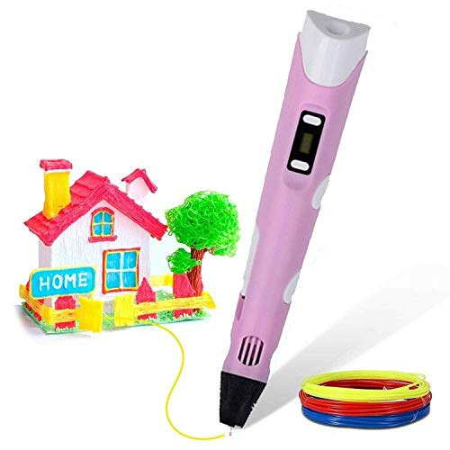 NMDD Digital Display Intelligent 3D Printing Pen High Temperature 3D Graffiti Painting Pens with USB Cable Educational Toys Gift