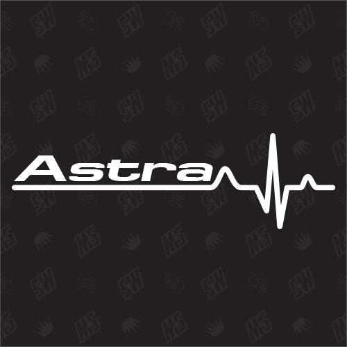 speedwerk-motorwear Astra Herzschlag - Sticker für Opel