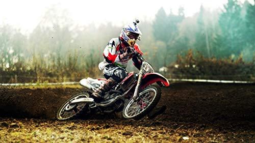 WZZPSD Puzzle1000Pezzi Motocross Salotto Puzzle in Legno Fai da Te Stile Regalo per La Casa