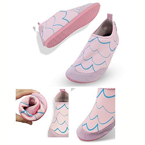 CSLOKTY Hommes Chaussures WomenSwim Eau Chaussettes Pieds Nus Protection pour La Mer De La Plage Piscine Adults-XXL