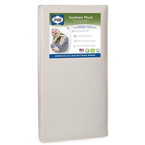 Sealy Baby Soybean Plush Foam Core Crib Mattress
