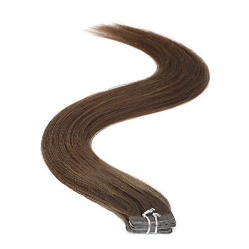 Ruban adhésif en Extensions de cheveux | 45,7 cm | 50PS | 50 g | Marron foncé (3)