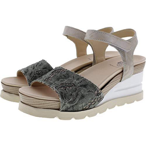 Brako / Modell: Eva Dana/Kaki-Beige Leder/Wechselfußbett/Art: 6036 / Damen Sandalette Größe 40 EU